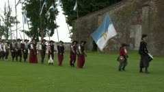 Occitan infantry 03 Stock Footage