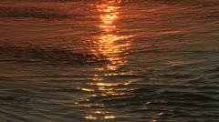 Gold sunlight on sea water Stock Footage