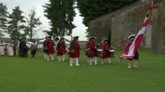Royal venaria guard 03 Stock Footage