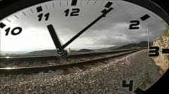 Clock in time-lapse loop Stock Footage