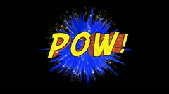 Comic pow Stock Footage