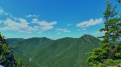 Mountain range fisheye lens Stock Footage