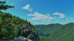 Mountain range fisheye lens 04 Stock Footage
