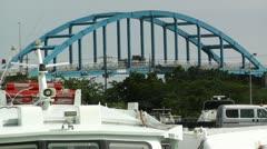 Port in Ishigaki Okinawa 24 heat mirage Stock Footage