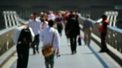 Out of Focus Crowd walking Stock Footage