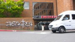 Ambulance at Emergency Hospital Stock Footage