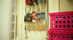 Womens shoe closet - stock footage