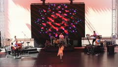 Concert stage with large led panel Stock Footage
