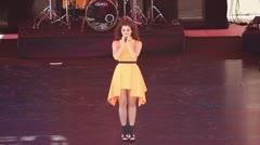 Popular singer Atiye Deniz Stock Footage