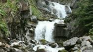 Waterfall Skagway Alaska down mountain P HD 0109 Stock Footage
