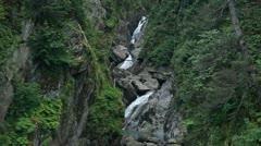 Waterfall Solomon Gulch Valdez Alaska P HD 8532 Stock Footage