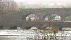 Twin Stone Bridges Stock Footage
