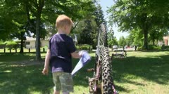 Boy bicycle Stock Footage