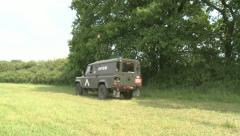 Army Landrover Stock Footage