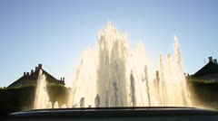 Amaliehaven Fountain at Amalienborg Palace WS02, Denmark GFHD - stock footage