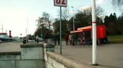 Crowd at Kiel Canal, Germany, editorial Stock Footage