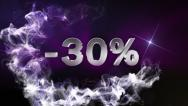 -30 Text in Particle (Double Version) Blue - HD1080 Stock Footage