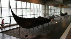 Exhibition at Viking Museum 02 GFHD Stock Footage