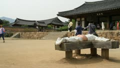 Folk Village in Nakan fortress Stock Footage