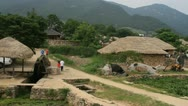 Stock Video Footage of Folk Village in Nakan fortress, South Korea
