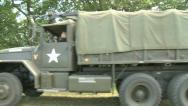 US Army Truck with machine gun Stock Footage