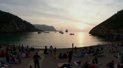Ibiza beach drummers benirras Stock Footage