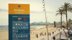 Barceloneta Stock Footage