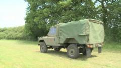 Australian Army Landrover Stock Footage