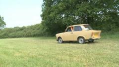 East German Trabant Stock Footage