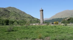 Glenfinnan Monument Scotland Stock Footage