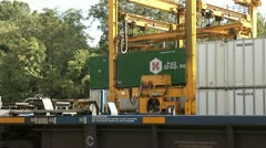CONTAINER FREIGHT YARD Stock Footage