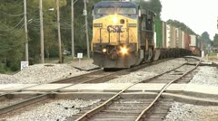 CSX TRAIN PASSES - stock footage