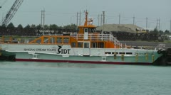Port in Ishigaki Okinawa 28 vessel handheld Stock Footage