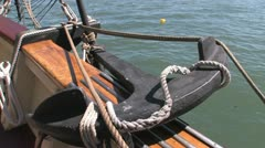 Ship anchor on board - stock footage