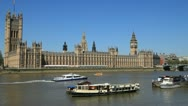 Stock Video Footage of Houses of Parliament, London