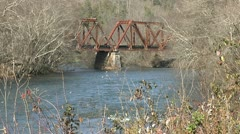 OLD TRESTLE ACROSS RIVER 3 - stock footage