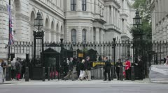 Downing Street Security Stock Footage