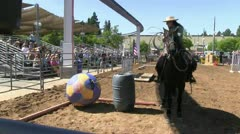 Horse show rodeo Stock Footage