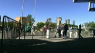 Ticket gate at the fair Stock Footage