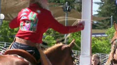 cowgirl demonstrating her skill - stock footage