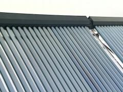 Solar collectors on house Stock Footage