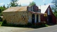 Historic Old Buildings On Main Street In Murphys CA Stock Footage