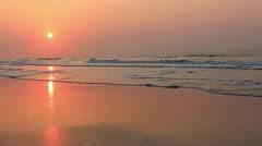 Stunning sea sunrise Stock Footage