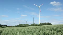 windpower sequence - stock footage