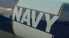 Navy T-6 Texan WWII aircraft Stock Footage