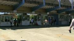 Fairgrounds ticket kiosks Stock Footage