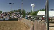 Stock Video Footage of rodeo grandstand, bleachers