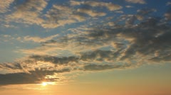 Pretty sunrise clouds and sky Stock Footage