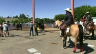 Cowgirls, riding event Stock Footage