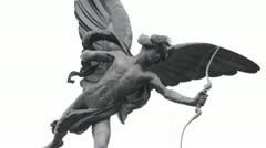 Anteros / Eros Statue in Piccadilly Circus Stock Footage